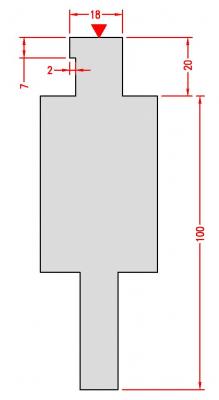 S1932: Adaptateur poinçon Amada pour machine COLLY