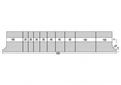 1316: Poinçon 26° r0.8 h 195mm
