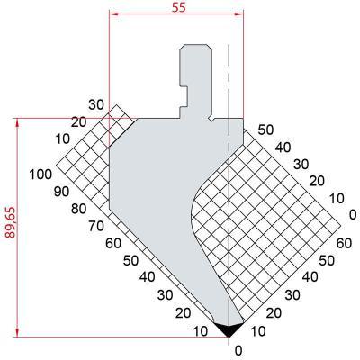 1014: Poinçon 88° r0.8 h89.65