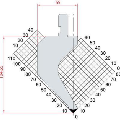 1017: Poinçon 88° r0.8 H104.65