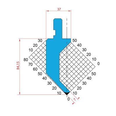 1020: Poinçon 88° r0.6 h84.15