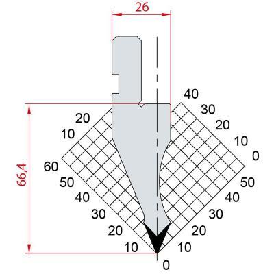 1024: Poinçon 45° r0.5 h66.4