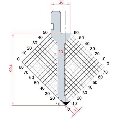 1029: Poinçon 88° r0.6 h99.4