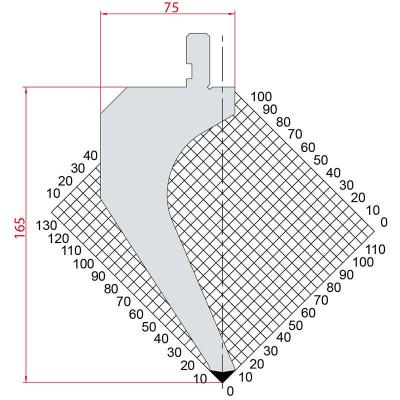 1031: Poinçon 88° r0.8 H165