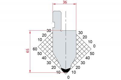 1032: Poinçon 60° r6 h65