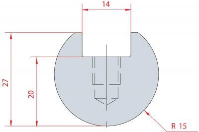 1038: Barre à rayonner R15