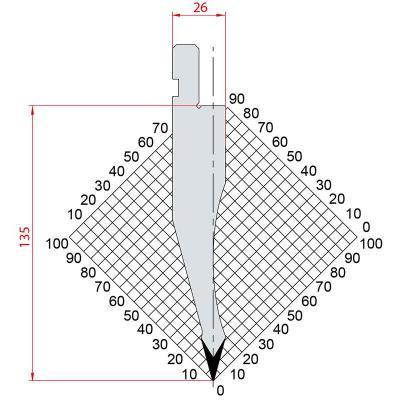 1052: Poinçon 30° r0.5 h 135