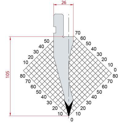 1055: Poinçon 30° r0.5 h 105