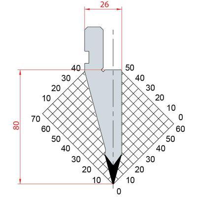1056: Poinçon 30° r0.5 h 80