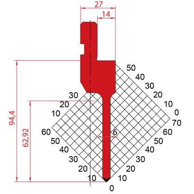 1084: Poinçon 88° r0.6 H94.40