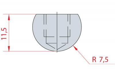 1101: Barre à rayonner R 7.5