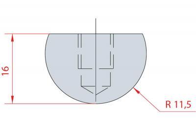 1105: Barre à rayonner R11.5