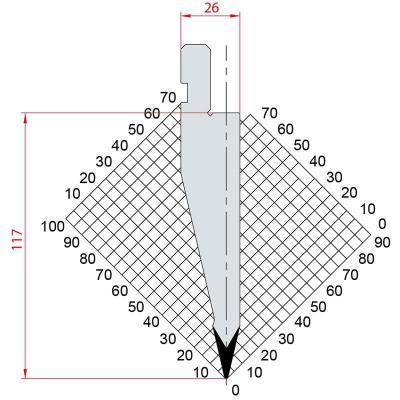 1178: Poinçon 26° r0.8 h 117