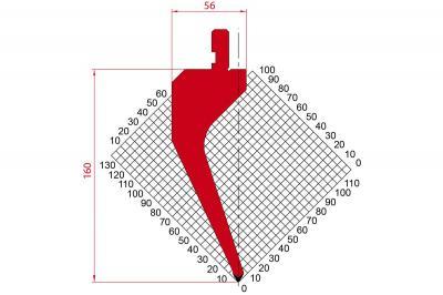 1190: Poinçon 60° r0.8 H 160
