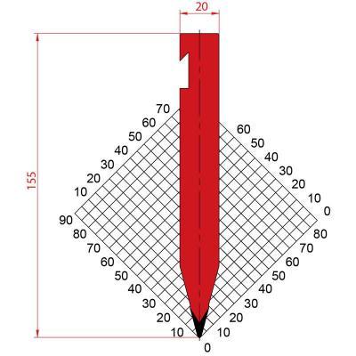 1226: Poinçon 30° r1 h155