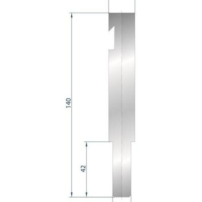 1239: support pour insert à rayonner Bystronic R H 140mm