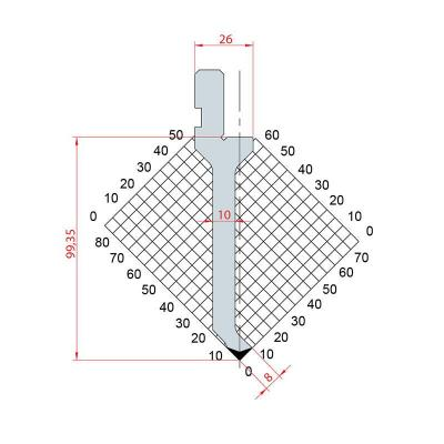 1262: Poinçon 88° r0.25 h99.4