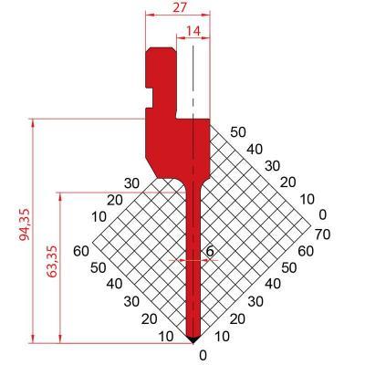 1270: Poinçon 88° r0.6 H94.35
