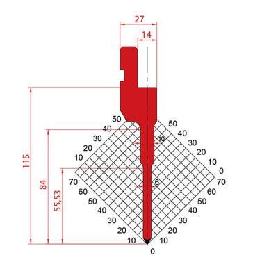 1271: Poinçon 60° r0.6 H115