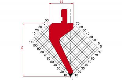 1272: Poinçon 60° r0.8 H 115