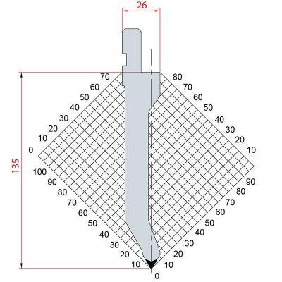 1284: Poinçon 60° r0.8 h135