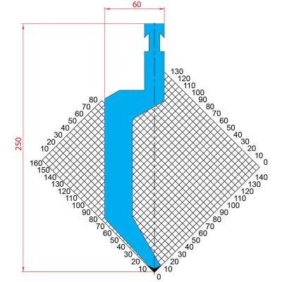 1298: Poinçon 86° r1.5 h250