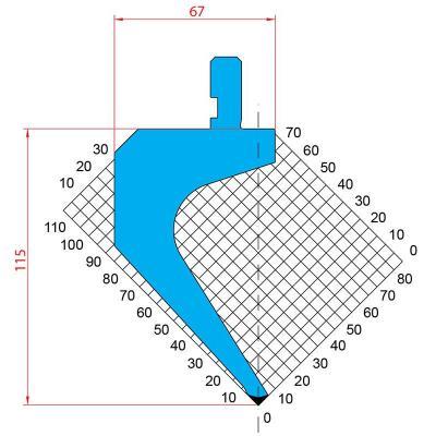 1310: Poinçon 85° r0.8 h115