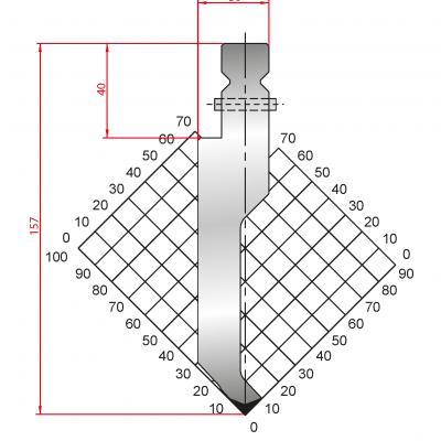 1317: Poinçon 86° r1 h 157mm
