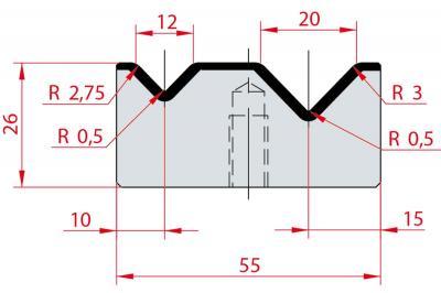 2013: Matrice Amada Promecam à 2V 88°
