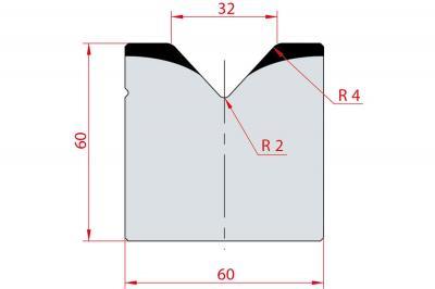2020: Matrice acier C45 V:32 à 85° H:60