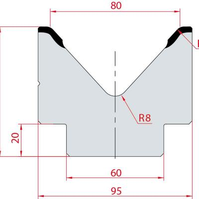 2024: Matrice acier C45 V:80 à 85° H:80