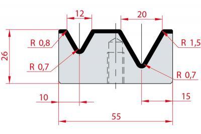 2033: Matrice Amada Promecam à 2V 60°