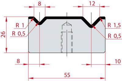 2041: Matrice Amada Promecam à 2V 88°