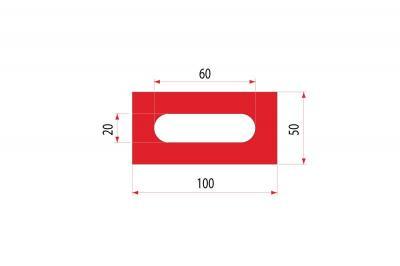 2108: Insert uréthane creux 100x50 mm