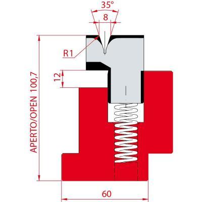 3037/8: Matrice à écraser, V8 à 35°