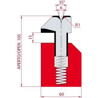 3039: Matrice à écraser, V6 à 35°