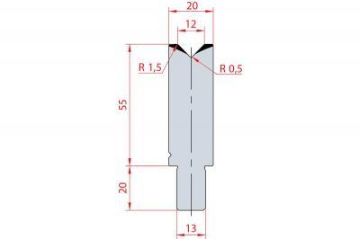 3107: Matrice Bystronic Beyeler V:12 à 88° H: 55