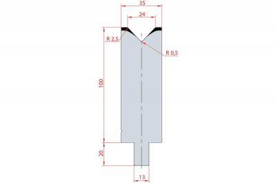 3129: Matrice Trumpf Wila V:24 à 86° H: 100