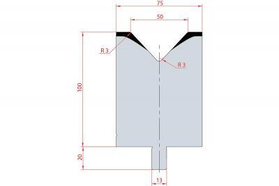 3132: Matrice Trumpf Wila V:50 à 86° H: 100