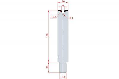 3136: Matrice Trumpf Wila V:6 à 30° H: 100
