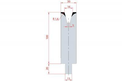 3140: Matrice Trumpf Wila V:16 à 30° H: 100