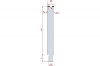 3144: Matrice Trumpf Wila V:8 à 86° H: 150