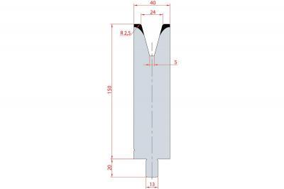 3156: Matrice Trumpf Wila V:24 à 30° H: 150