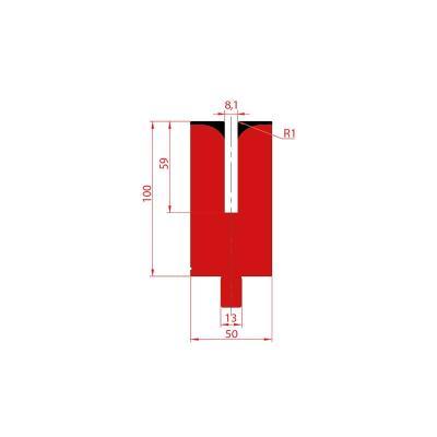 3157: Matrice pour poinçon à écraser 24° - 8.1 mm