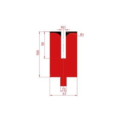 3174: Matrice pour poinçon à écraser 24° - 10.1 mm