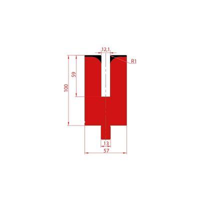 3175: Matrice pour poinçon à écraser 24° - 12.1 mm