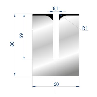 3176: Matrice pour poinçon à écraser 28°