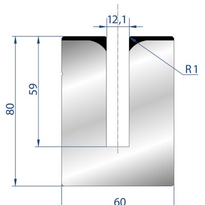 3178: Matrice pour poinçon à écraser 24°