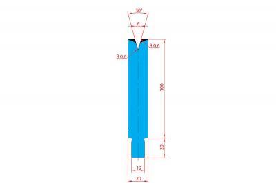 3206: Matrice Trumpf Wila V:6 à 30° H: 100