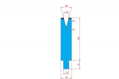 3209: Matrice Trumpf Wila V:12 à 30° H: 100